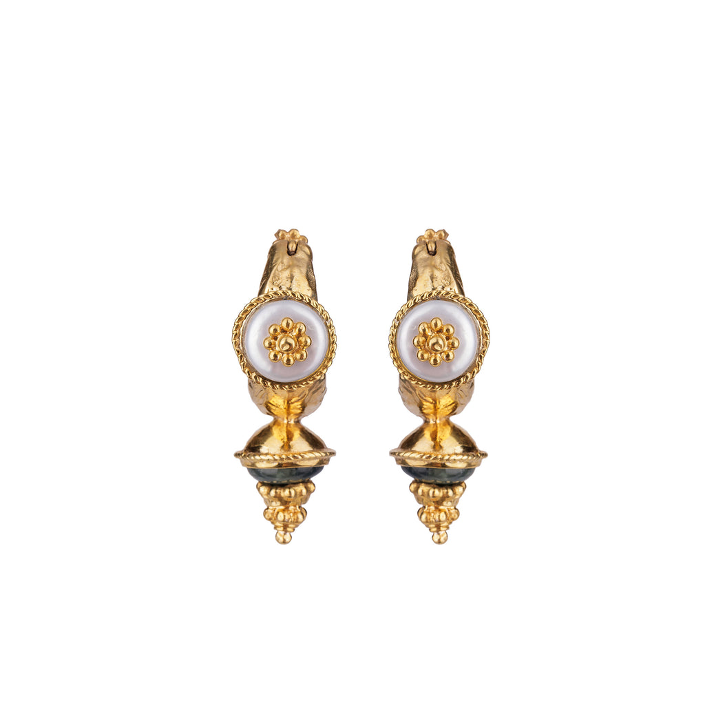 Theodora Hoop Earrings Gold