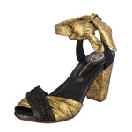 Simone Heel - Yellow Gold and Dark Pewter