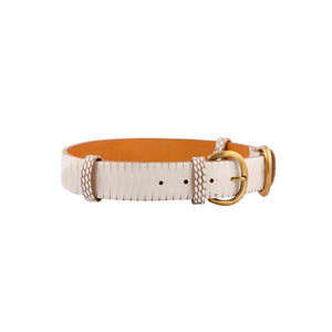 Double Buckle Waist Belt - Natural