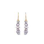 Reign Pearl Earrings Gold