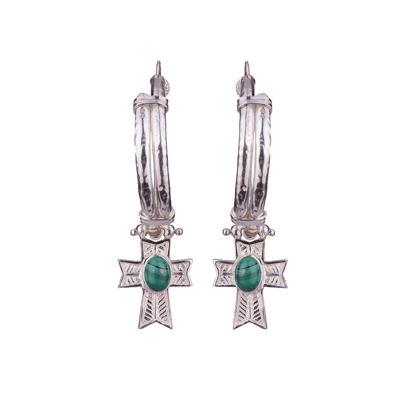 Theodora Hoop Earrings Silver