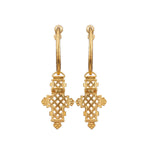 Aethiopia Hoop Earrings Gold