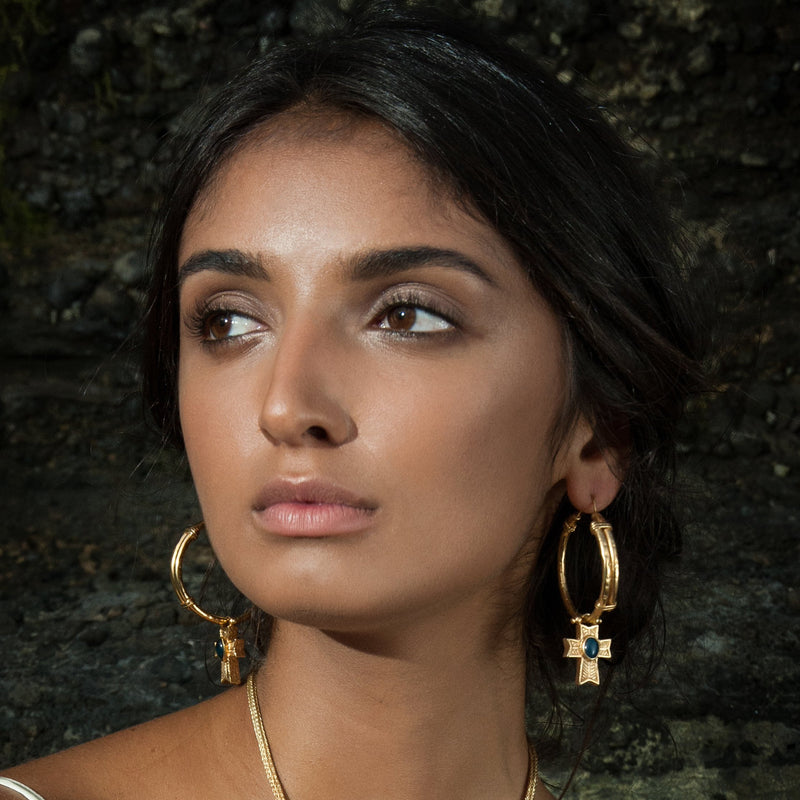 Empress Hoop Earrings Gold