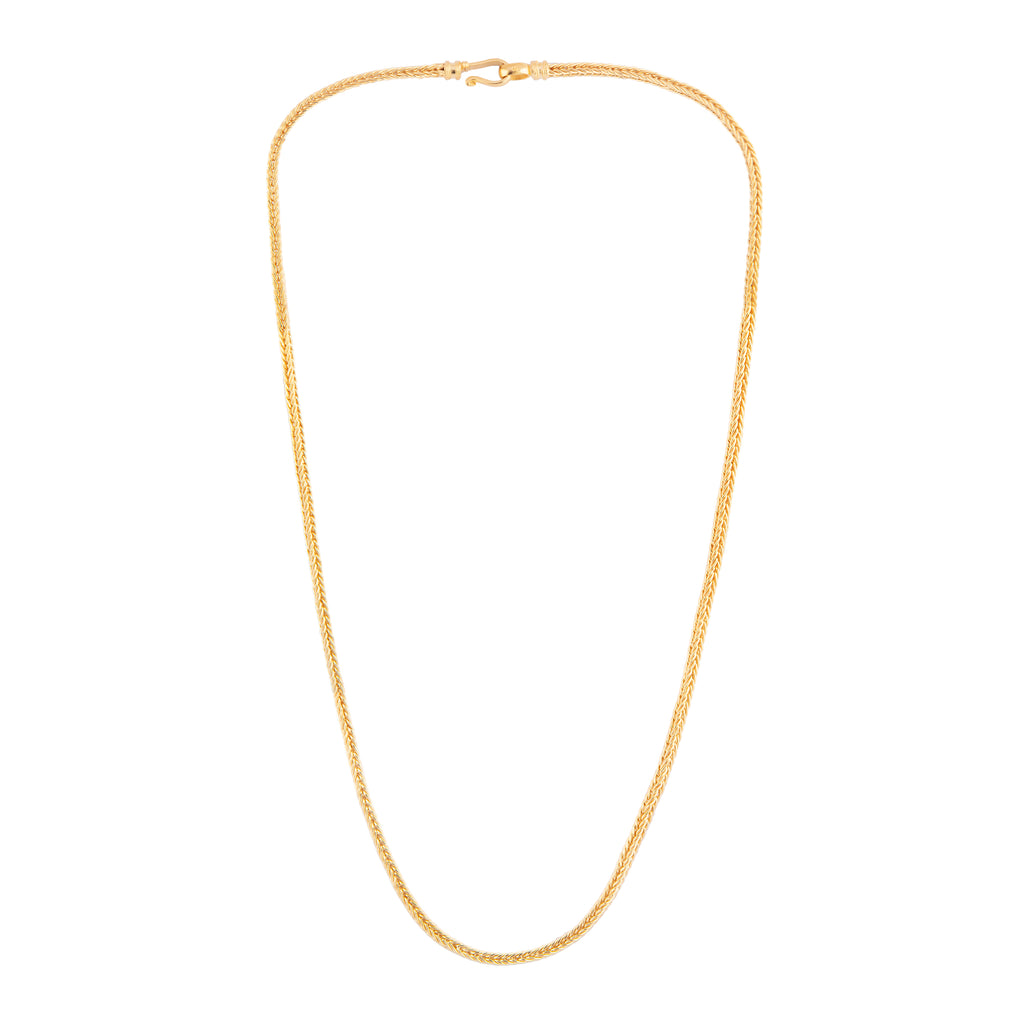 Square Long Chain Gold