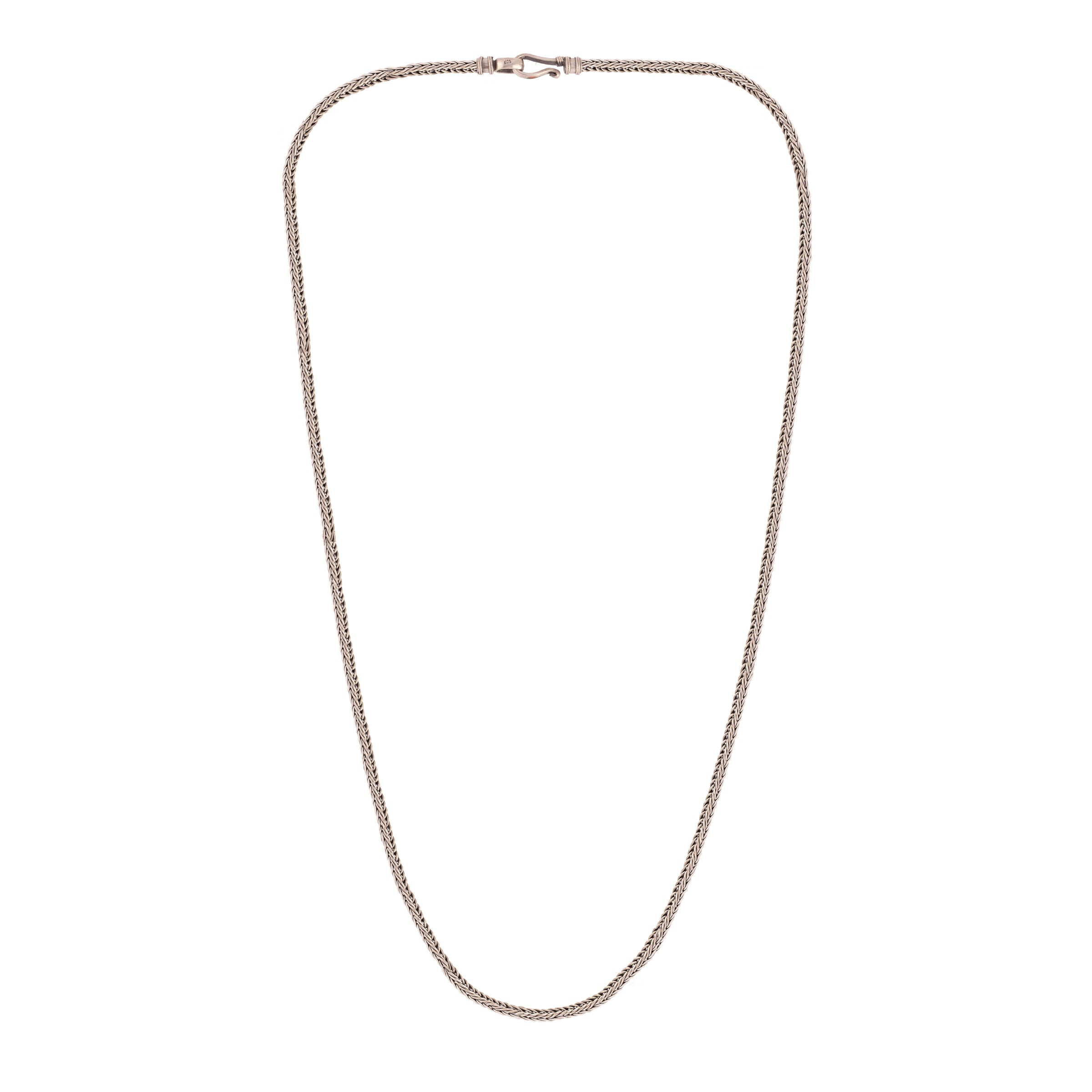 Square Long Chain Silver