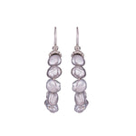 Reign Pearl Earrings Silver