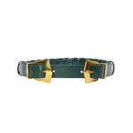 Large Link Western Double Belt - Emerald