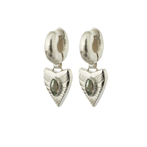 Dynasty Tube Earrings - Silver