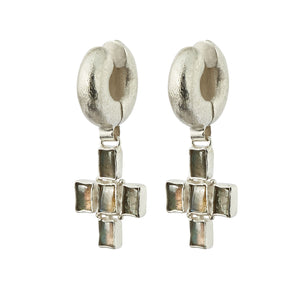 Livia Tube Earrings - Silver