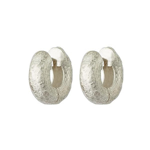 Small Tube Hoops - Silver
