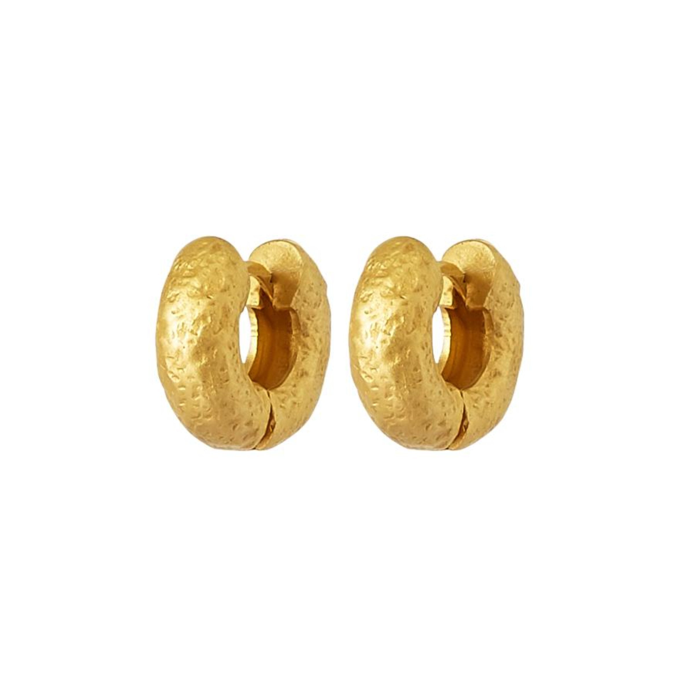 Extra Small Tube Hoops - Gold