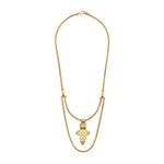 Aethiopia Cross Necklace Gold