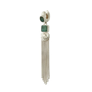 Augustine Earrings - Silver/Emerald
