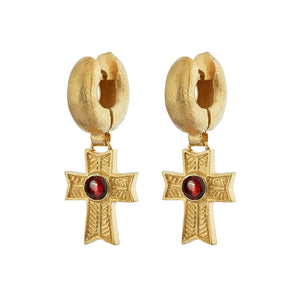 Empress Tube Earrings - Gold