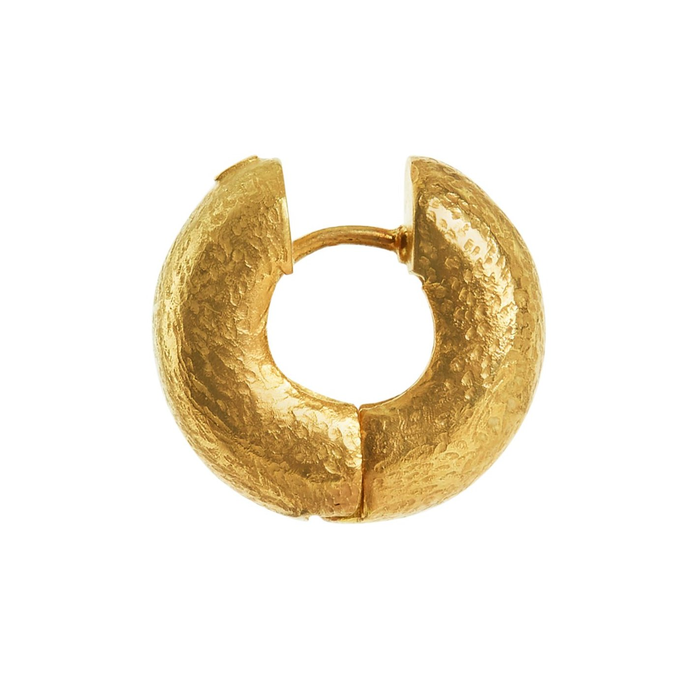 Small Tube Hoops - Gold