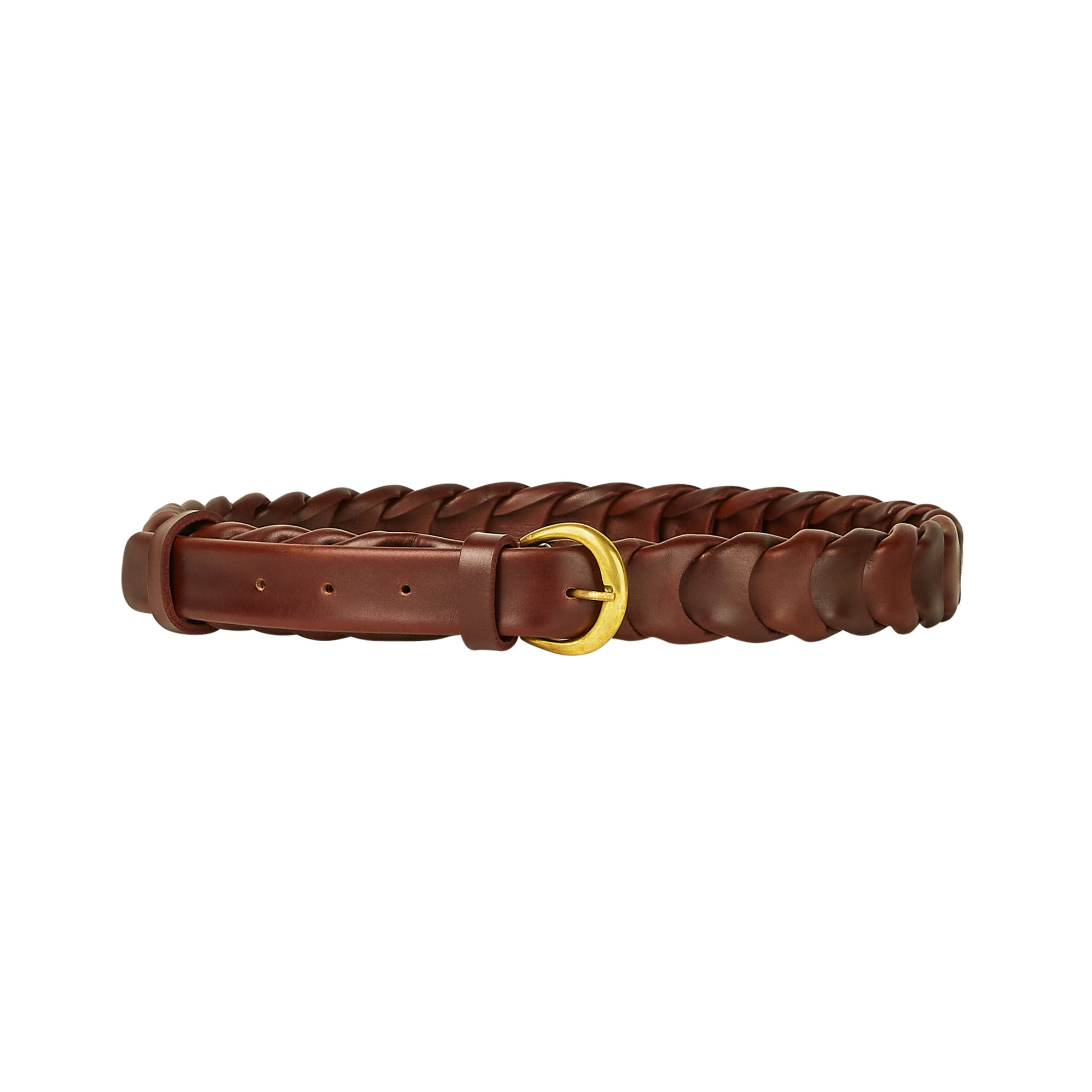 Mens Large Link Belt - Dark Tan