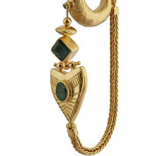 Dynasty Chain Hoop - Gold