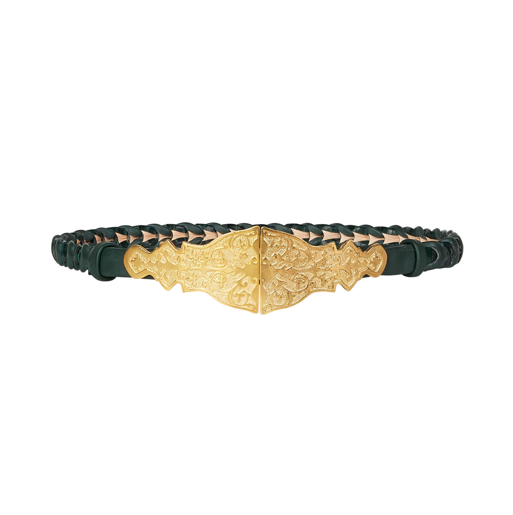 Arabian Double Buckle Belt - Emerald