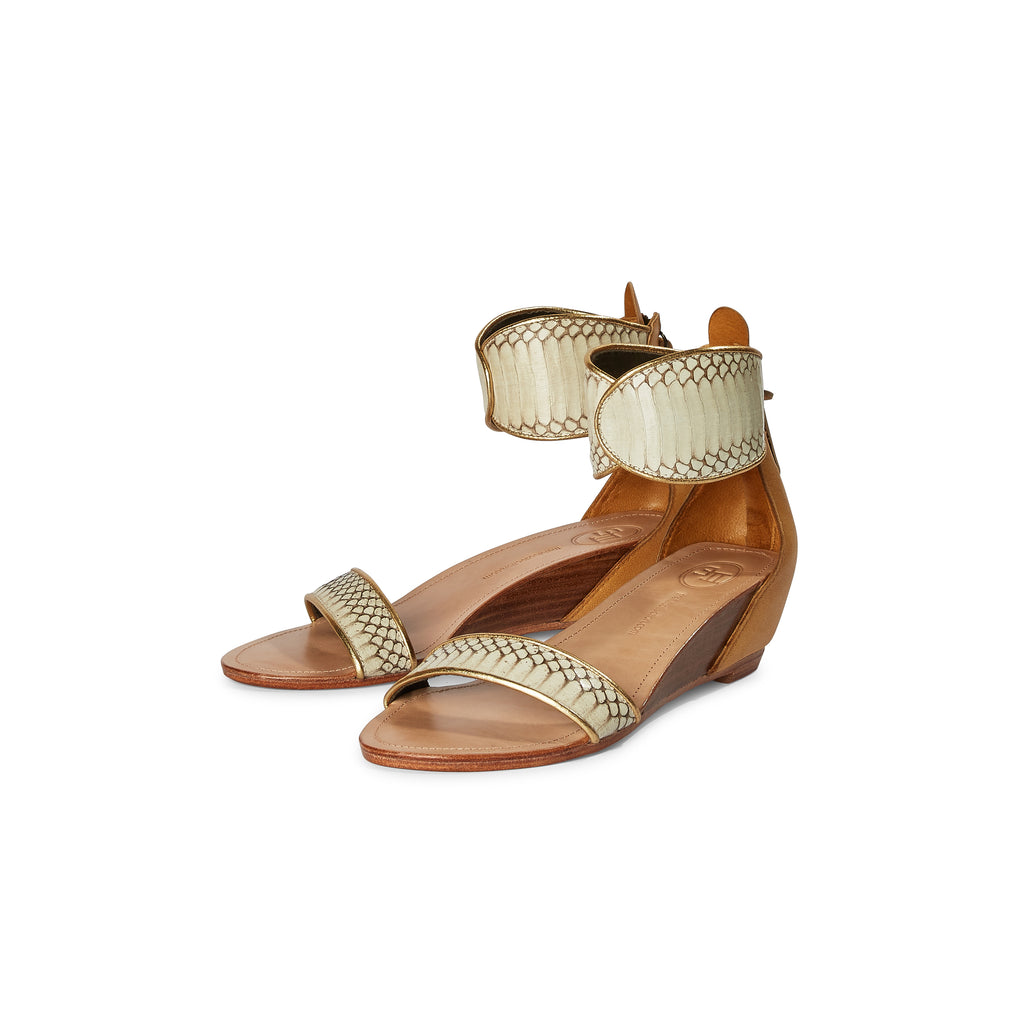 Farah Classic Wedge Sandal - Natural