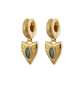 Dynasty Tube Earrings - Gold