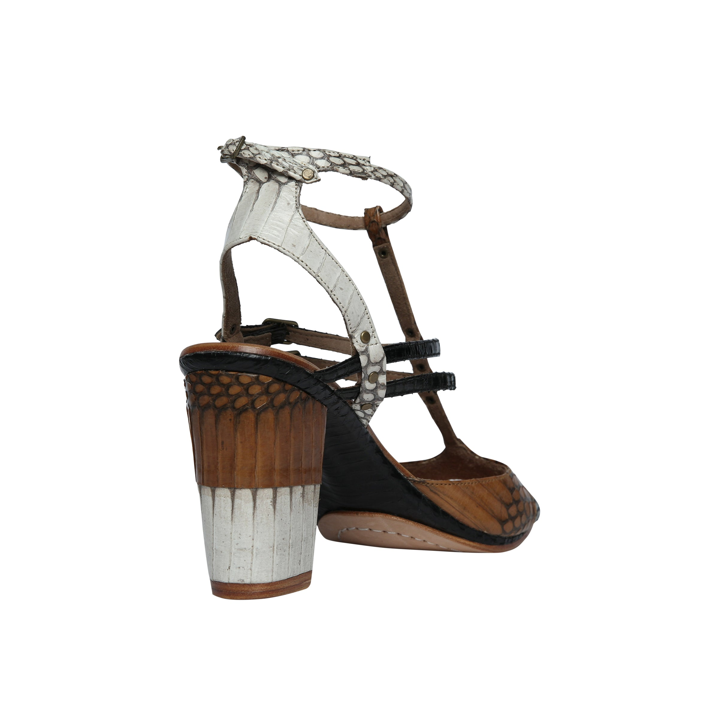 Time Of My Life Sandal - Camel/Black