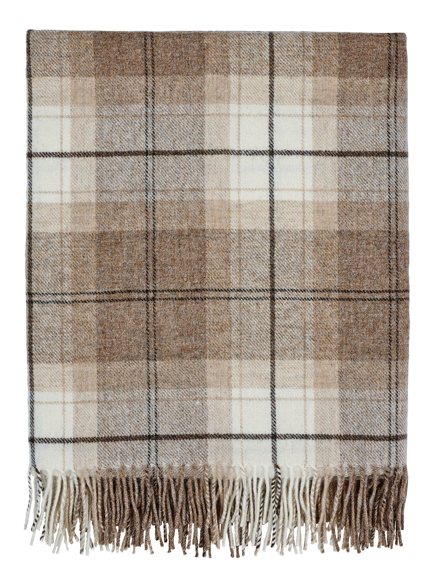 Pure Wool Throw (Devon Fudge)
