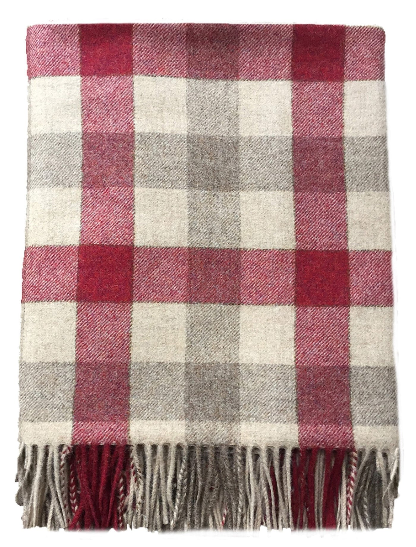 Pure Wool Throw (Strawberry)