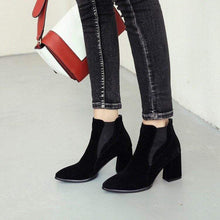 Load image into Gallery viewer, Classy Faux Suede Ankle Boots for Women