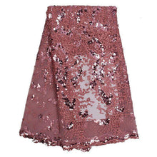 Load image into Gallery viewer, High Fashion Shimmering Lace Fabric With Sequins