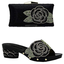 Load image into Gallery viewer, Latest Italian Design Shoes with Matching Bag Decorated with Rhinestones