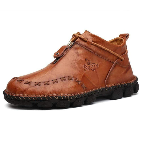 Men's Handmade Ankle Boots - Genuine Leather - Milvertons