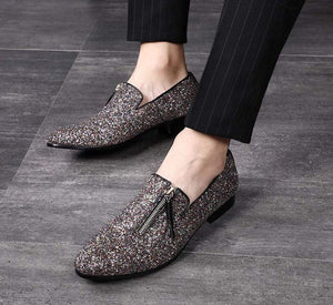 Men's glittered loafers - Milvertons