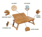 Bamboo Laptop Table - Home Insight