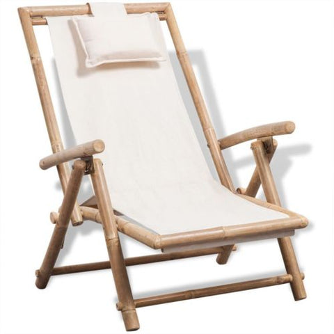 Bamboo Deck Chair - Home Insight