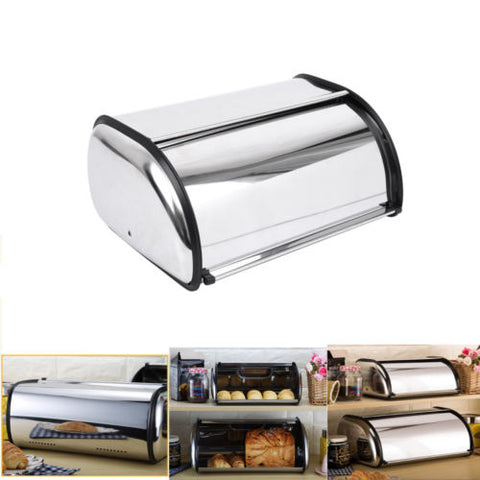 Stainless Steel Bread Box - Home Insight