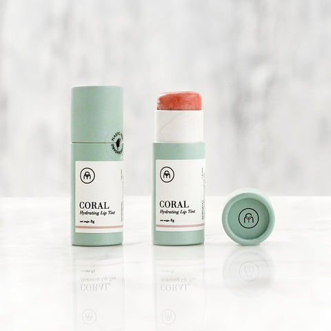 CORAL Coloured lip balm