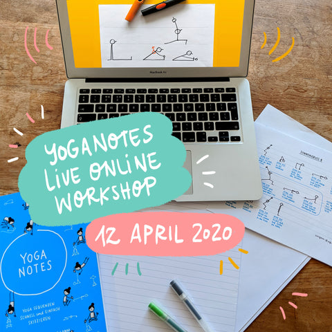 Yoganotes Live Online Workshop – 12 April 2020 - Eva-Lotta's Shop