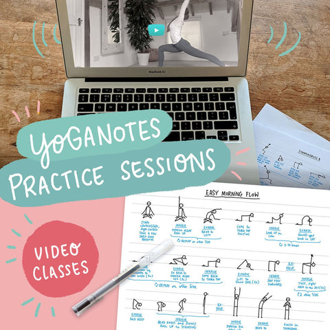 Yoganotes Practice Sessions – Video classes (English) - Eva-Lotta's Shop