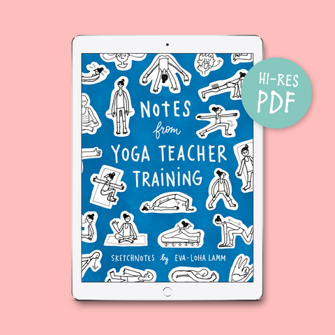 Notes from Yoga Teacher Training – PDF version (English) - Eva-Lotta's Shop