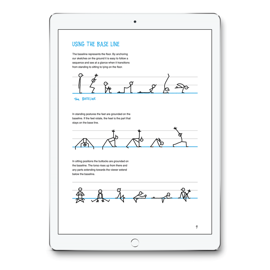 Yoganotes Sketching Yoga Stick Figures Pdf Eva Lotta S Shop