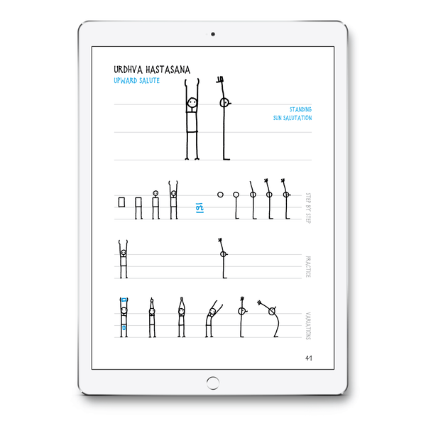 Yoganotes – Sketching Yoga Stick Figures – PDF version (English) - Eva-Lotta's Shop