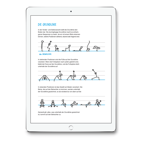 Yoganotes – Yoga-Strichfiguren zeichnen – PDF Version (Deutsch) - Eva-Lotta's Shop
