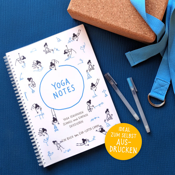 Yoganotes – Yoga-Strichfiguren zeichnen – Deutsch – PDF Version - Eva-Lotta's Shop