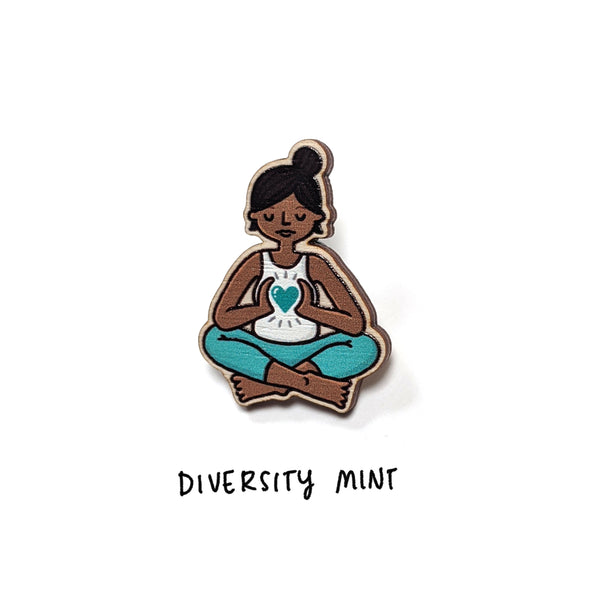 Wooden Yogi/ni Pin - Eva-Lotta's Shop