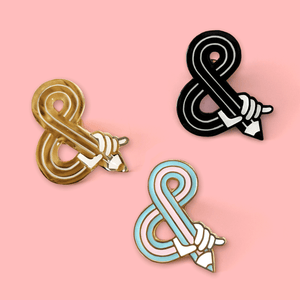 Sketching Ampersand – Hard Enamel Pin - Eva-Lotta's Shop