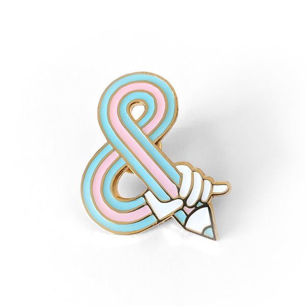 Sketching Ampersand – Hard Enamel Pin