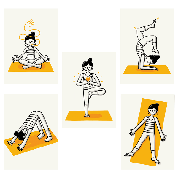 Yoga Asana Postcards - Eva-Lotta's Shop