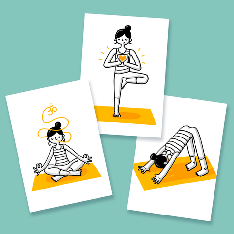 Yoga Asana Postcards