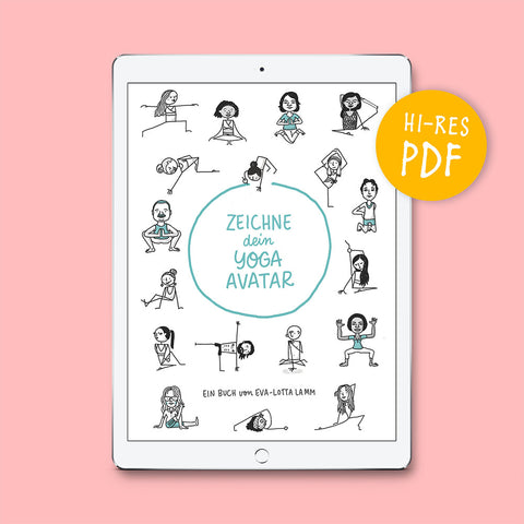 Zeichne dein Yoga-Avatar – PDF (Deutsch) - Eva-Lotta's Shop