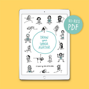 Draw your Yoga-Avatar – Printable PDF - Eva-Lotta's Shop